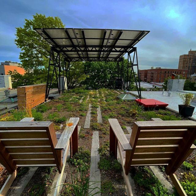 A residential extensive #greenroof we built for a client with sustainable relaxation in mind. The solar canopy produces energy and shade at the same time. Pretty awesome!