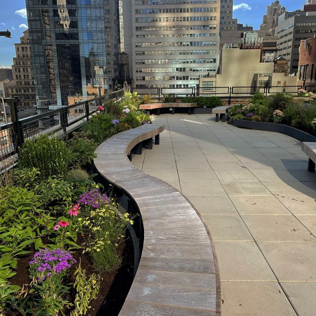 Today we finished a #greenroof in the heart of the concrete filled financial district. Every bit of green helps!